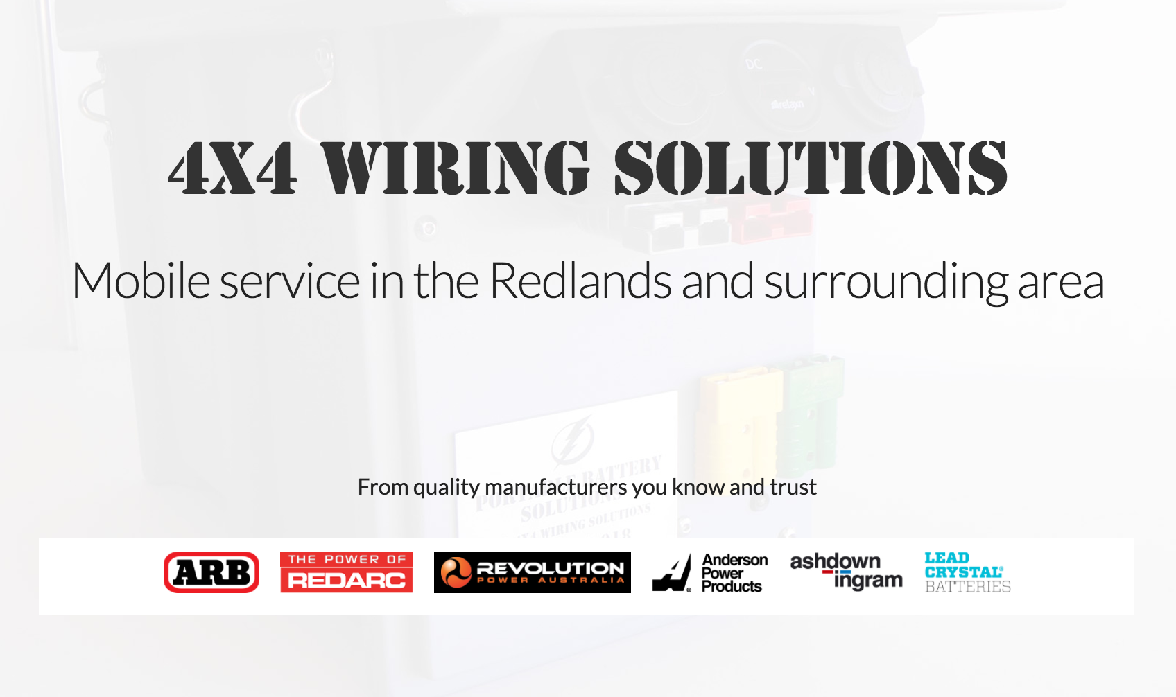 4x4 Wiring Solutions Power Plug Australia Header